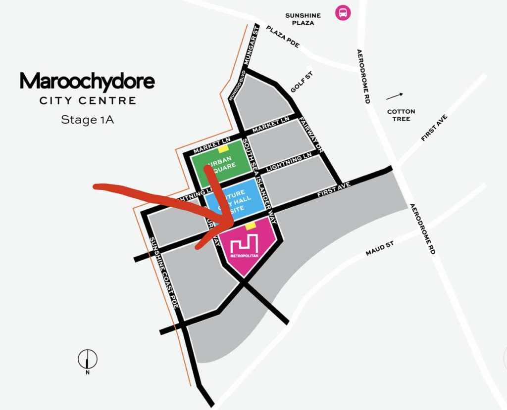 The MET location map